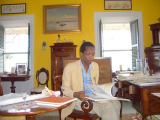 Wayne James in Personal Library.JPG