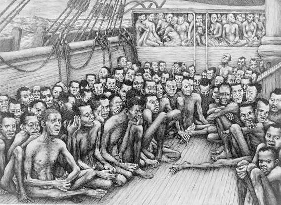 Slaves on Ship
